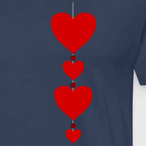 4 hearts Valentine couples Truelove loving couple - Men's Premium T-Shirt