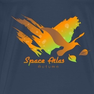 Space Atlas Hoodie Autumn Leaves - Premium-T-shirt herr