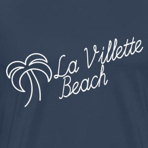 La Villette white beach - Men's Premium T-Shirt
