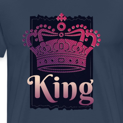COOL KING and QUEEN CROWN - Premium-T-shirt herr