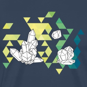 Crystal Tale geometric crystal triangle design - Men's Premium T-Shirt