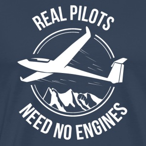 Glider - Real Loodsen Need No Engine - Mannen Premium T-shirt