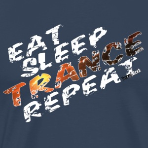 Eat Sleep Gentag Trance V1 - Herre premium T-shirt