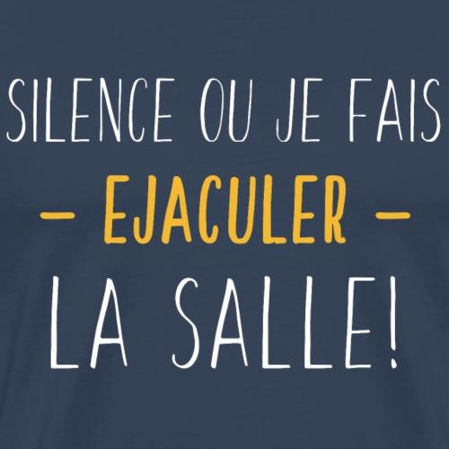Ejaculer La Salle - Blanc Jaune - T-shirt Premium Homme