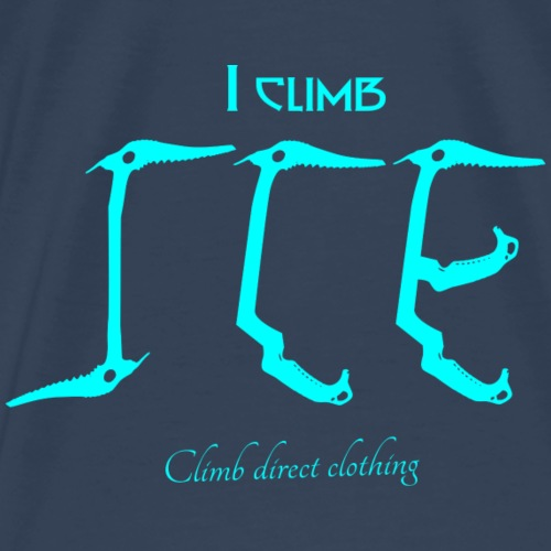 I climb ice! blue - Men's Premium T-Shirt