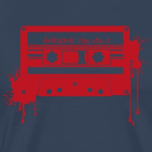 RETRO CASSETTE in red - Men's Premium T-Shirt
