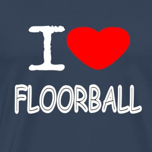 I LOVE FLOORBALL - Men's Premium T-Shirt