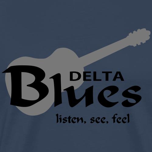 DeltaBluesListenSeeFeel - Männer Premium T-Shirt