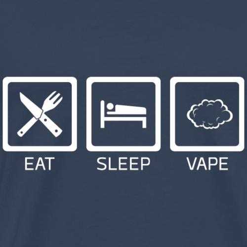 Eat Sleep Vape - Männer Premium T-Shirt