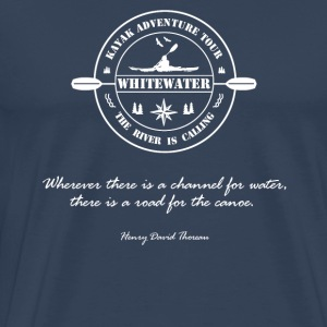 Whitewater, whitewater kayak, canoe - Men's Premium T-Shirt
