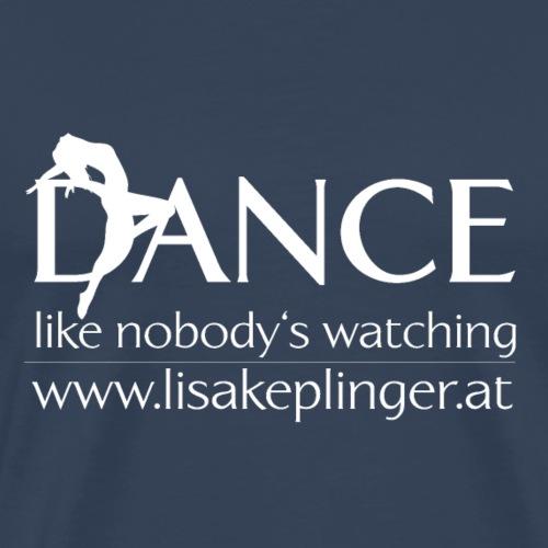 dance logo weiß - Männer Premium T-Shirt