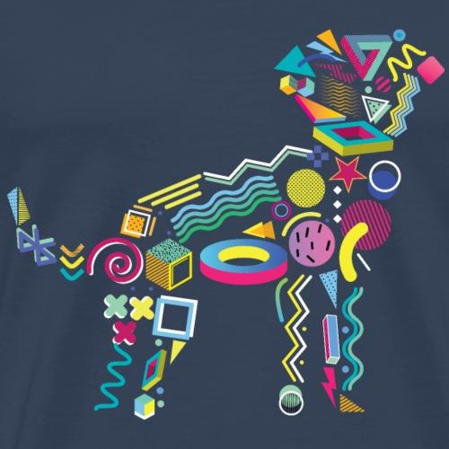 Memphis Style 80s Puppy - Men's Premium T-Shirt