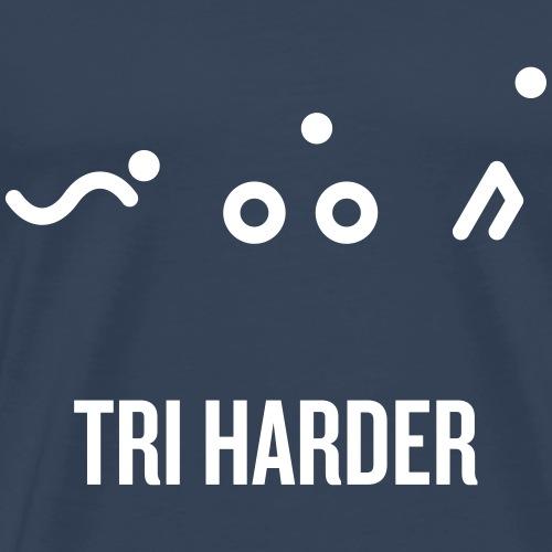 TRI_harder_hvit - Premium T-skjorte for menn