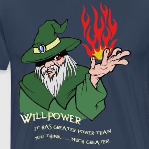 Willpower Wizard Green / Red Flame - Men's Premium T-Shirt