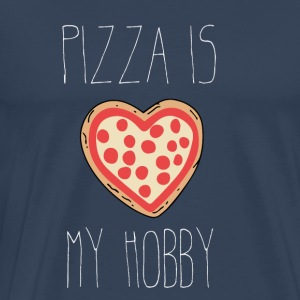 Pizza is mijn hobby - Mannen Premium T-shirt