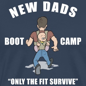 Nouveau papa Boot Camp Only The Fit Survive - T-shirt Premium Homme