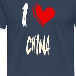 I love China - Mannen Premium T-shirt