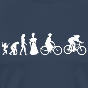 Frauen-Biking Cycling Evolution - Männer Premium T-Shirt