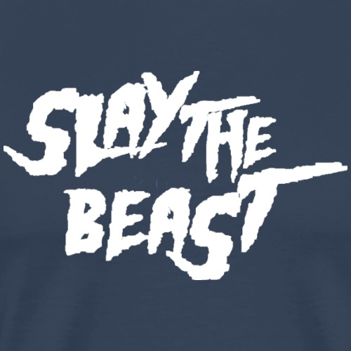 SLAY THE BEAST White - Men's Premium T-Shirt
