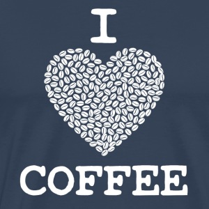 Kaffe skjorte I LOVE COFFEE - Premium T-skjorte for menn