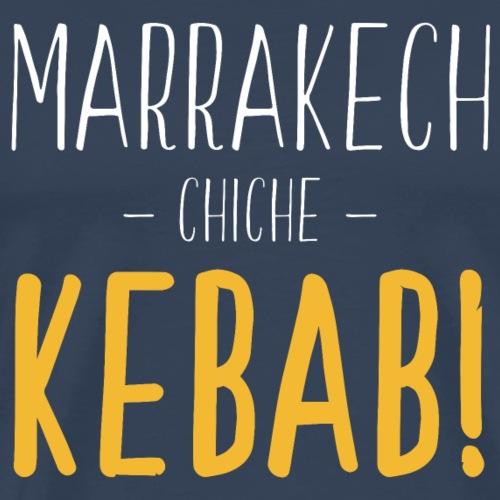 Marrakech Chiche Kebab - Blanc Jaune - T-shirt Premium Homme