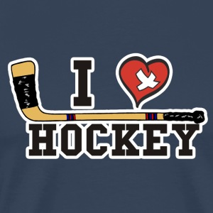 I Love Hockey - Premium T-skjorte for menn