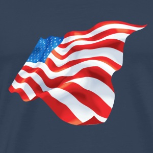 Waving USA flag - Men's Premium T-Shirt