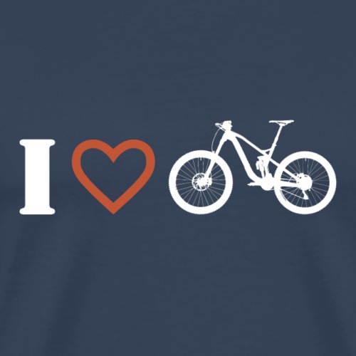I love mountainbiken 1 - Männer Premium T-Shirt