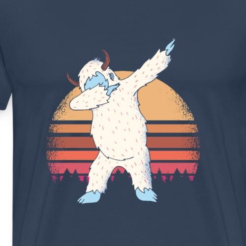 DABBING YETI SUNSET FUNNY MEME - Premium-T-shirt herr