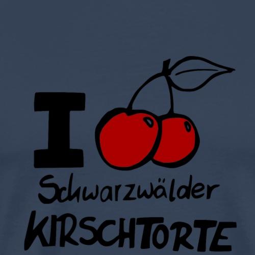I LOVE Schwarzwälder Kirschtorte - Männer Premium T-Shirt