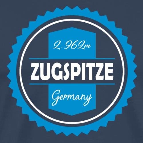 Zugspitze Bierdeckel Blau-Weiß | Bayern - Männer Premium T-Shirt