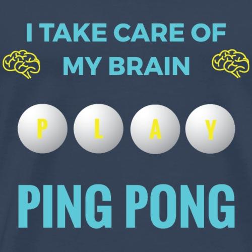 PING PONG - MY BRAIN - Premium-T-shirt herr