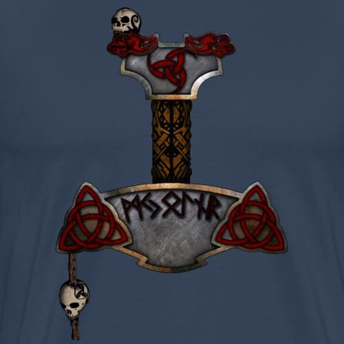 Mjölnir - Thors Hammer (farbig) - Männer Premium T-Shirt