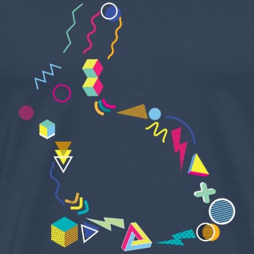 Memphis Style 80s Rabbit - Men's Premium T-Shirt