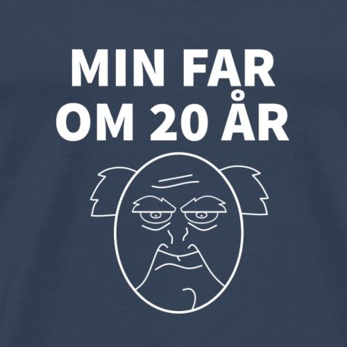 Min Far Om 20 År (Moto) - Herre premium T-shirt