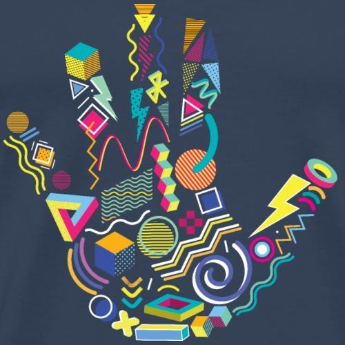 Memphis Style 80s Handprint - Men's Premium T-Shirt