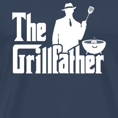 The Grillfather Funny BBQ Grilling Gift for Dad - Camiseta premium hombre