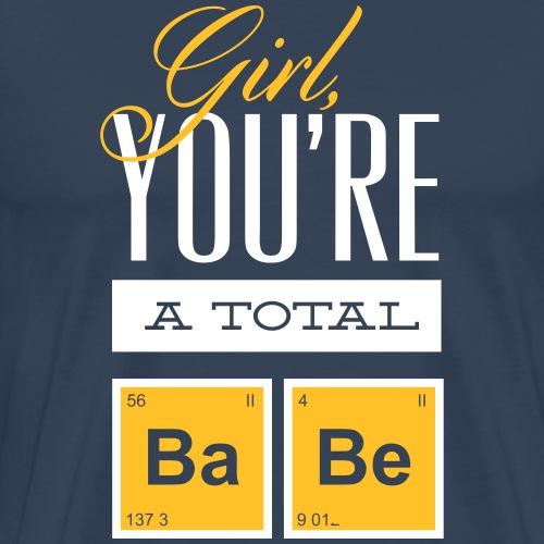 PERIODENSYSTEM BABE GIRL BABY Geschenke Shirts - Männer Premium T-Shirt