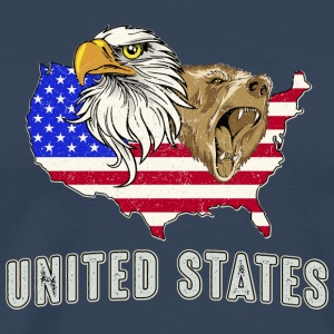 USA Adler eagle grizzly beer America America - Mannen Premium T-shirt
