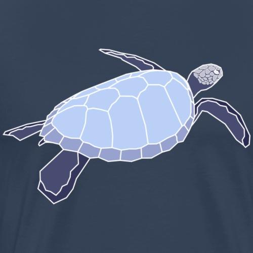 Wasserschildkröte - Turls Negativ - Männer Premium T-Shirt