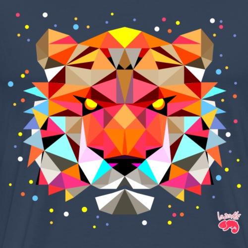tiger_polygonal - Maglietta Premium da uomo