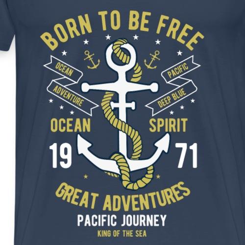 Born to be free - Männer Premium T-Shirt