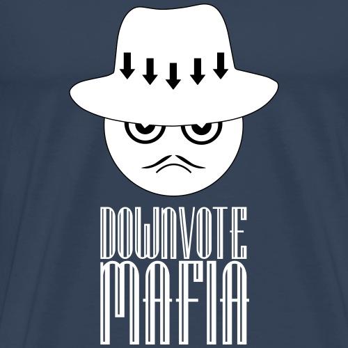 Downvote-Mafia (heller Print) - Männer Premium T-Shirt