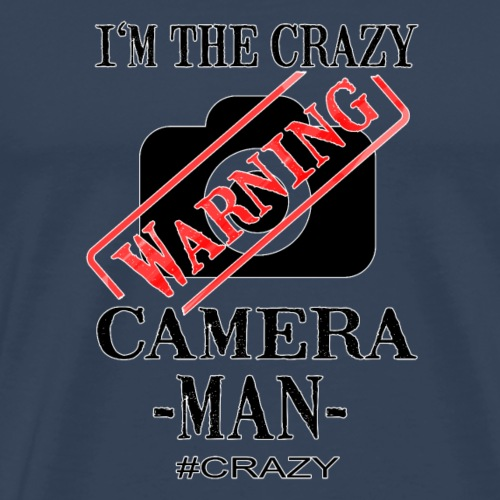 Crazy Camera Man - Männer Premium T-Shirt