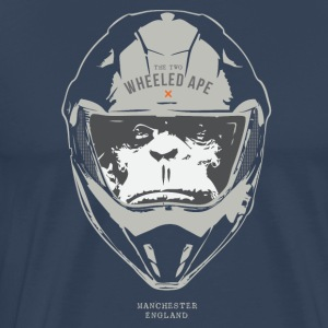 The Two Wheeled Ape Big Head Design Light - Men's Premium T-Shirt