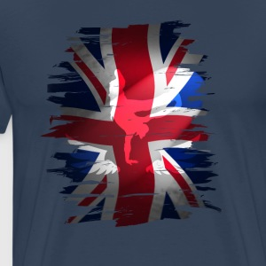 Union Jack britain flag Stunt England destroyed ro - Männer Premium T-Shirt