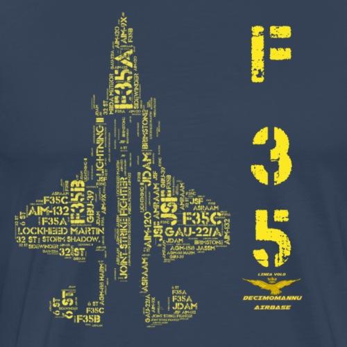 F35 ORO LINEA VOLO - Maglietta Premium da uomo