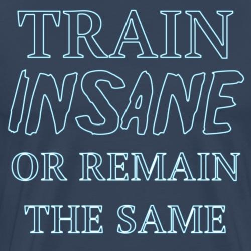 Train insane blue - Men's Premium T-Shirt