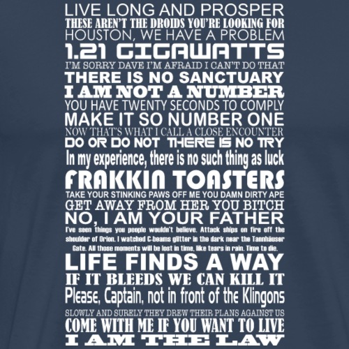 Sci Fi Quotes - Men's Premium T-Shirt