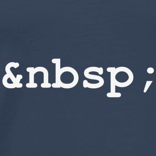 HTML empty white - Männer Premium T-Shirt